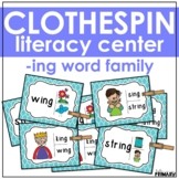Word Family Task Cards: -ing