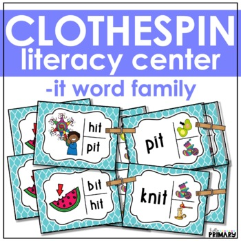 Word Family Task Cards: -it