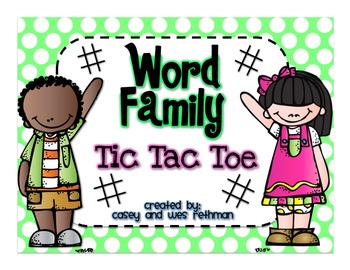 Word Family Tic Tac Toe