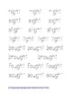 Word Family Tracing (4 + letter word families)