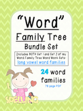Word Family Tree Bundle-includes Word Family Trees Word Work Set 1 & 2
