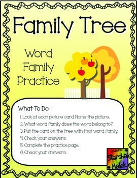 Word Family Tree Pocket Folder Center