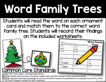 Word Family Trees - Rhyming Word Identification