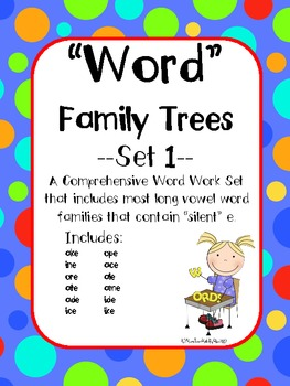 Word Family Trees-Set 1: Word Work for 12 Word Families-aligned with CCSS