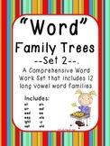 Word Family Trees-Set 2: Word Work for 12 Word Families-aligned with CCSS