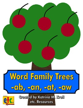 Word Family Trees (-ab, -an, -at, -aw)