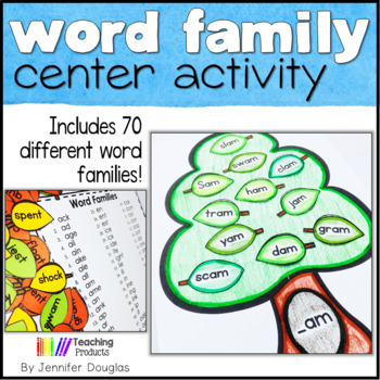 Word Family Trees - includes 86 different word families