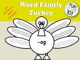 Word Family Turkey Activity