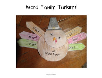 Word Family Turkey Craft