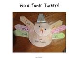 Word Family Turkey Craft