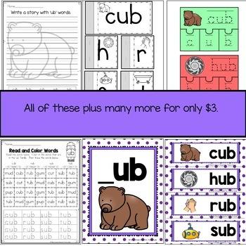 UB Word Family  Word Work