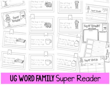 Word Family -UG Emergent Reader Fluency Reading Comprehension