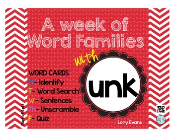 Word Family - unk family