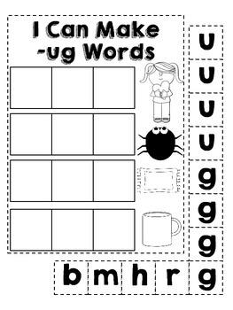 Word Family -Ug Bugs!
