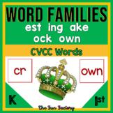 CVCC Activities | Word Families Worksheets | est ock ake ing own