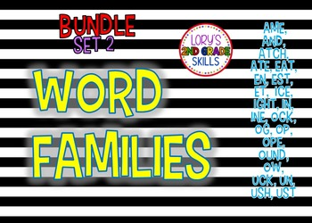 Word Family Units... Set 2 (22 word families)
