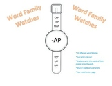 Word Family Watches