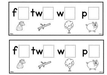 Word Families {Week of Work Booklets}