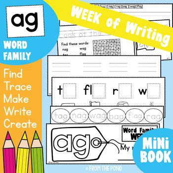 Word Family Week - ag Words - Printable Writing Book