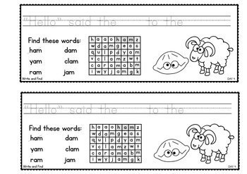 Word Work With Word Families