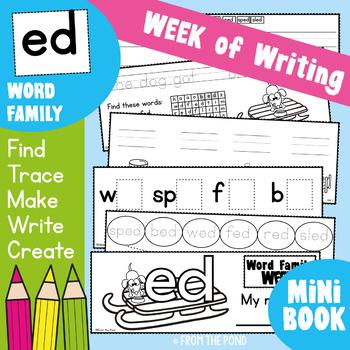 Word Family Week - ed Words - Printable Writing Book