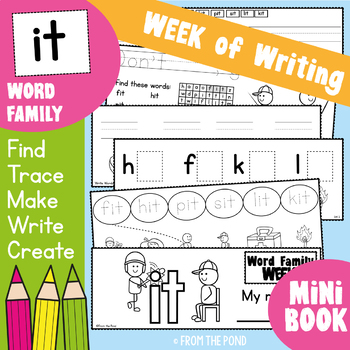 Word Family Week - it - Printable Read and Write Book
