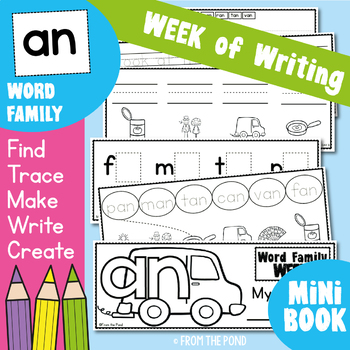 Word Family Week of Writing - an Family - Printable Booklet