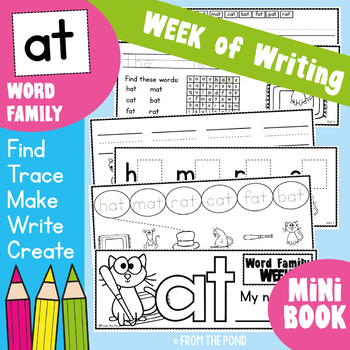 cvc Word Family Week of Writing {Freebie}