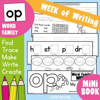 Word Family Week - op - Printable Read and Write Book