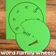 Word Family Wheel & Making Words Wheels {Long, Other & R-Controlled Vowels}