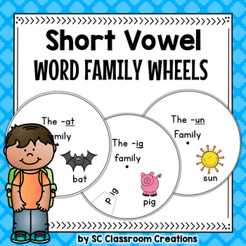 Word Family Wheels (short vowels)