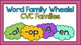 Word Family Wheels - CVC Words