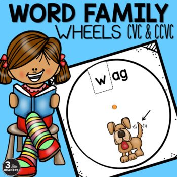 Word Family Wheels (Short Vowels #1)