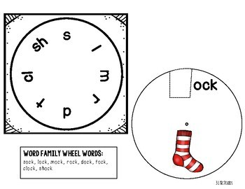 Word Family Wheels (Short Vowels #2)