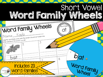 Word Family Wheels - Short Vowels