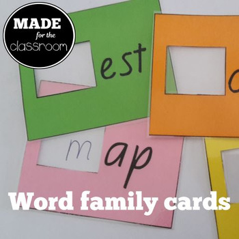 Word Family Window Cards