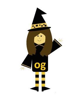 Word Family Witch's Brew File Folder Fun for Halloween (ug, ag, og, ig)