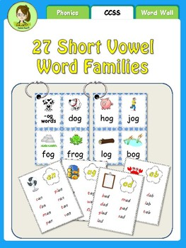Word Family Word Cards (Ring 'Em!)