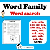 A Word Family Word Search Worksheets