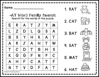 Word Family Word Search FREEBIE