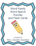 Word Family Word Search Puzzles and Flash Cards