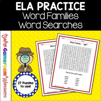 Word Family Word Searches