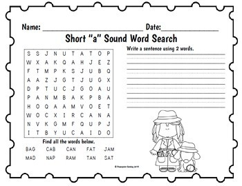 Long Vowel and Short Vowel Word Searches