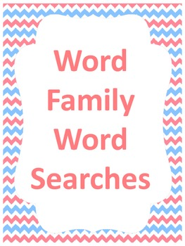 Word Family Word Searches!