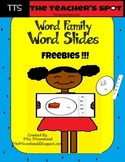Word Family Word Slides that Meet Common Core Standards