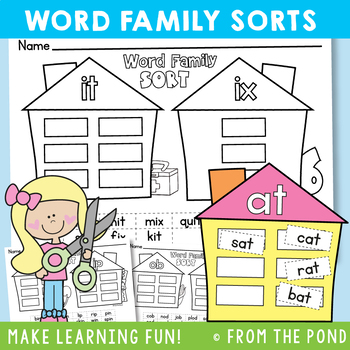 Word Families Worksheets {Read and Sort Activities}