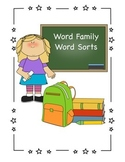 Word Family Word Sorts