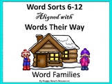 Word Family Word Sorts 6-12 aligned with Words Their Way
