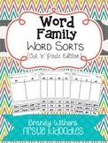 Word Family Word Sorts {Cut 'n' Paste Edition}