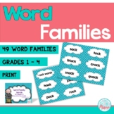 Word Family Word Wall Cards (49 word families)